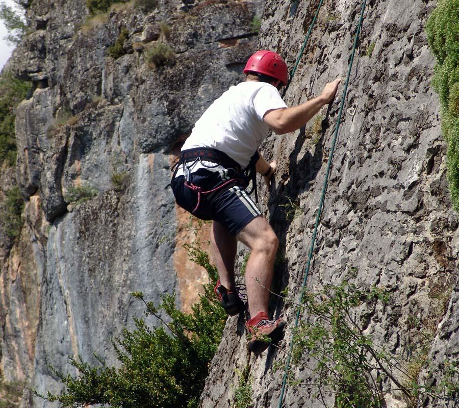 escalada en la comarca del alto gallego