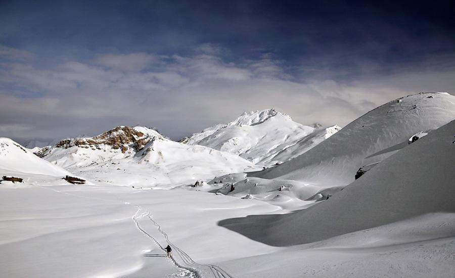 raquetas en la nieve en la comarca alto gallego