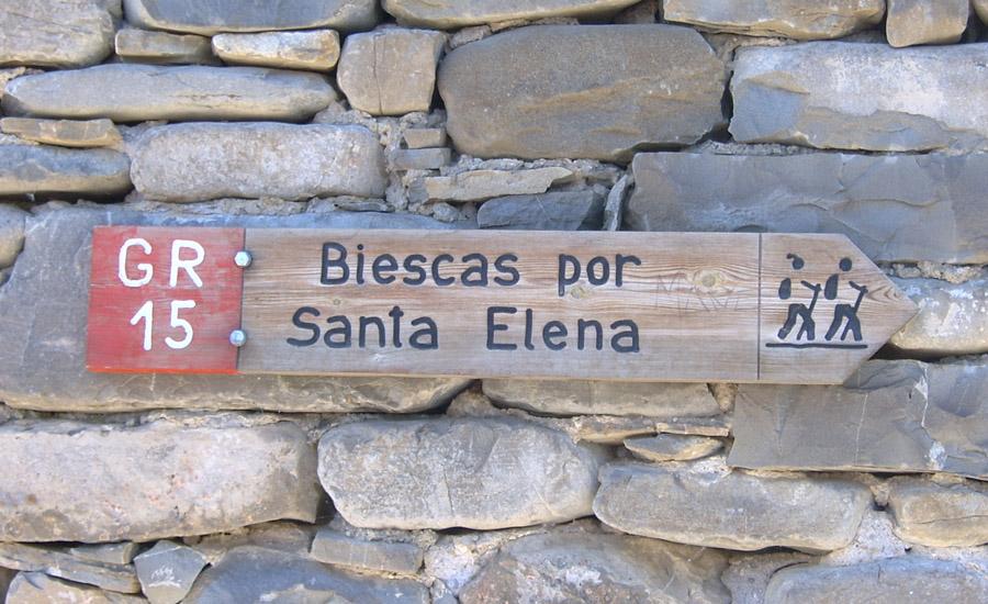 de biescas a la iglesia de santa elena comarca alto gallego