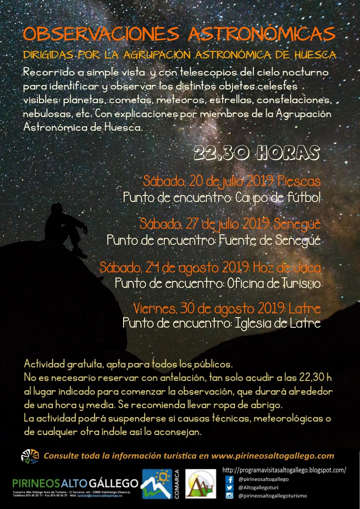 Cartel Observaciones Astronómicas 2019